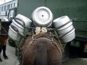 Packsattel mit Bier