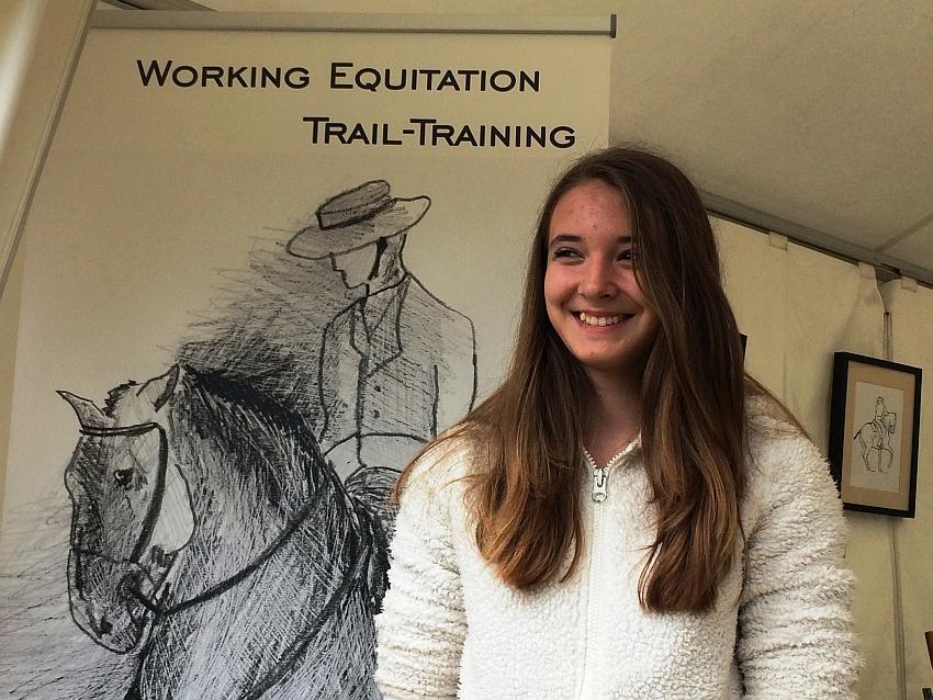 Die 14-jährige Lina Schneller war die jüngste Working Equitation - Teilnehmerin auf dem 19-jährigen Hannoveraner Weltstern